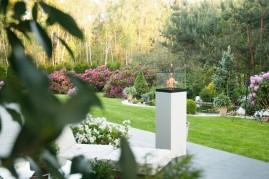 Vulcano 1500 biały - biokominek wolnostojący, taras, ogród