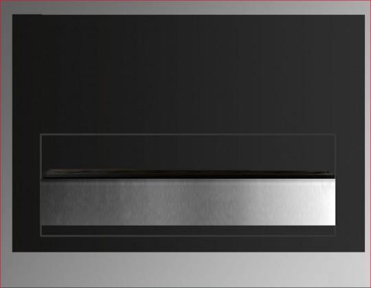 Batur - biokominek wiszący z szybą, kolor czarny półmatowy