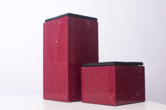 Ketoi Group - biokominek mały, kamień Quartz Red, przenośny, na stół, komodę lub taras