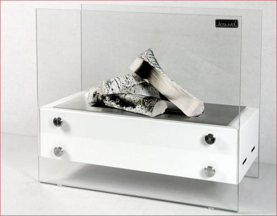 Dempo 40 - biokominek mały, przenośny, kolor biały