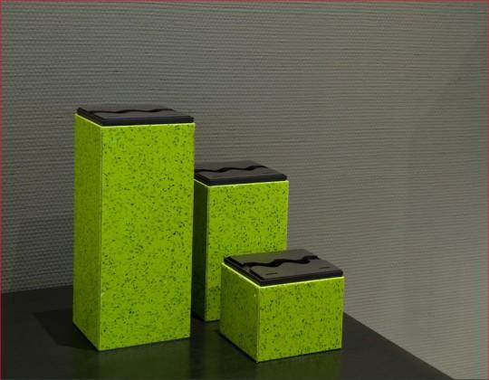 Ketoi Group - biokominek mały, kamień Quartz Green, przenośny, na stół, komodę lub taras