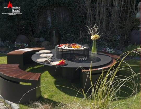 Manua Loa - biokominek, grill ogrodowy, siedzisko, stolik
