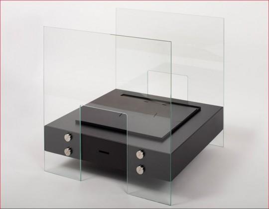 Tanaga 2 - biokominek mały, wolnostojący, z szybą, kolor czarny