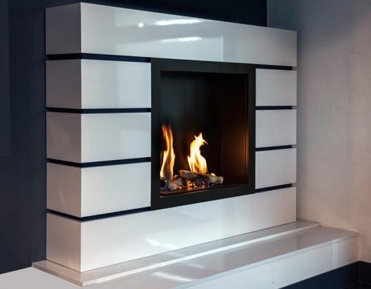 Art Designe 01 - biokominek portalowy, biały